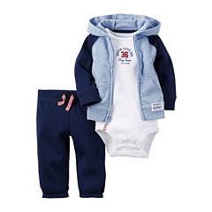 Carter's® 3-pc. Hooded Layette Set - Baby Boys newborn-24m
