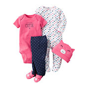 Carter's® 4-pc. Cutie Layette Set - Baby Girls newborn-24m