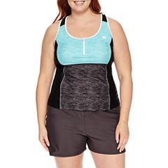 Zeroxposur Tie Dye Tankini Swimsuit Top or Swim Shorts - Plus