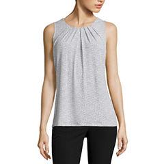 Worthington Sleeveless Scoop Neck T-Shirt