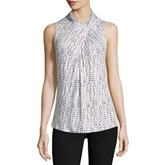 Worthington Sleeveless Twist Neck T-Shirt