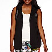 City Streets® Mesh Vest Hoodie - Juniors Plus