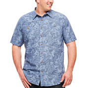 The Foundry Supply Co.™ Short-Sleeve Vintage Woven Shirt - Big & Tall