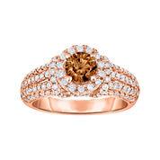True Love, Celebrate Romance® 1¾ CT. T.W. Certified Champagne & White Diamond Ring
