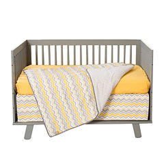 Trend Lab® Buttercup Zigzag 3-pc. Crib Bedding Set