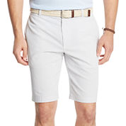 IZOD® Corded Stripe Flat-Front Shorts