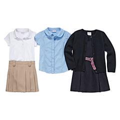 IZOD® Dazzle-Sleeve Polo, Pleated Skort, Short-Sleeve Woven Top, Sleeveless Belted Dress or Long-Sleeve Cardigan - Preschool Girls 4-6x