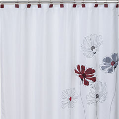 Saturday Knight Scarlet Shower Curtain