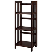 Folding 3-Shelf Stackable Bookcase