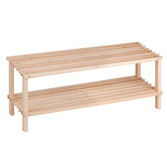 Honey-Can-Do® 2-Tier Wood Shoe Rack