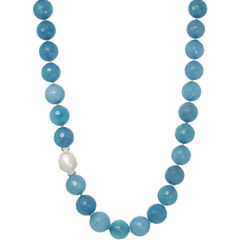 ROX by Alexa Genuine Aquamarine Beaded Necklace