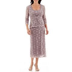 R&M Richards Sequin Lace Jacket Dress