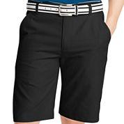 IZOD® Solid Flat-Front Shorts