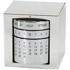 Natico Silver Polished Perpetual Calendar