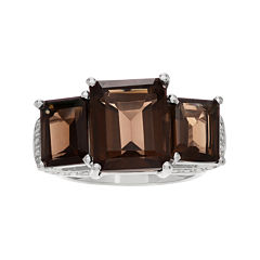 Genuine Smoky Topaz Sterling Silver Ring