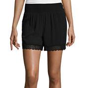 Bisou Bisou® Smocked Lace Shorts