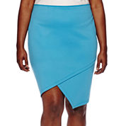 Bisou Bisou® Asymmetrical Pencil Skirt - Plus
