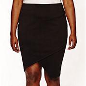Bisou Bisou® Asymmetrical Pencil Skirt - Plus
