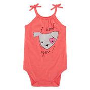 Okie Dokie®  Short Sleeve  Graphic Bodysuit Baby Girls Newborn-24M