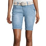Wallflower Belted Bermuda Shorts