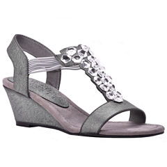 New York Transit Got Glass Womens Wedge Sandals