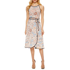 Weslee Rose Sleeveless Wrap Dress