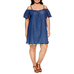 Tiana B Short Sleeve Sheath Dress-Plus