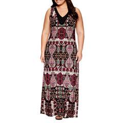 Jennie And Marlis Sleeveless Beaded Maxi Dress-Plus
