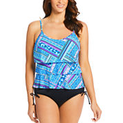 St. John's Bay Triple Tier Tankini Taylor Swimsuit Top or Adjustable Side-Brief