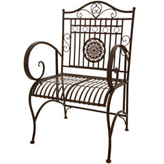 Oriental Furniture Rustic Garden Chair
