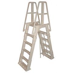 Vinyl Works Premium A-Frame Above Ground Pool Ladder - Taupe