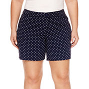 St. John's Bay® Twill Cargo Shorts - Plus