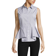 Worthington Sleeveless Button-Front Shirt