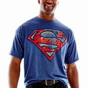 Superman Distressed Shield Tee-Big & Tall