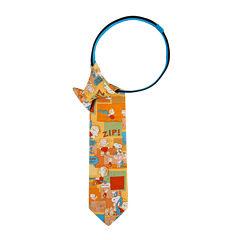 Peanuts Snoopy Vs. Linus Pre-Tied Zipper Tie - Boys