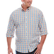 Dockers® Long-Sleeve Multi Check Button-Front Shirt - Big & Tall