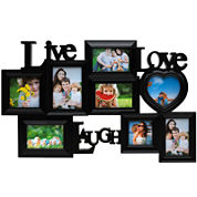 Melannco® Live Love Laugh 8-Opening Collage Picture Frame