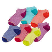 Gold Toe® 6-pk. Marled Low-Cut Socks - Girls