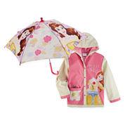 Disney Princess Girls Beauty and the Beast Raincoat-Preschool
