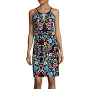 nicole by Nicole Miller® Sleeveless Printed Halter Dress