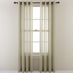 MarthaWindow™ Candid Stripe Grommet-Top Sheer Panel
