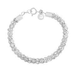 Gloria Vanderbilt Womens Clear Beaded Bracelet