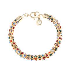 Gloria Vanderbilt Womens 7 1/2 Inch Multi Color Chain Bracelet