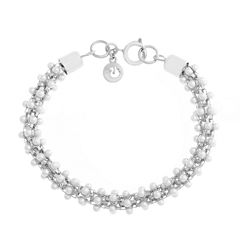 Gloria Vanderbilt Womens White Beaded Bracelet