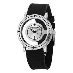 Stuhrling Mens Black Strap Watch-Sp14718