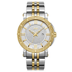 JBW Vault Stainless Steel 0.24 C.T.W Diamond Accent Mens Two Tone Bracelet Watch-J6343c