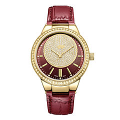 JBW Camille 18k Gold-Plated Stainless Steel 0.16 C.T.W Diamond Accent Womens Red Bracelet Watch-J6345a