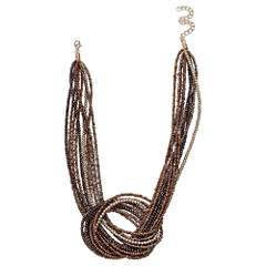 Mixit Clr 0717 Brown Womens Strand Necklace
