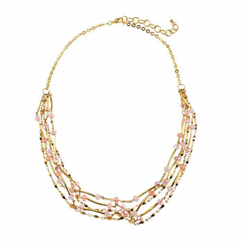 Studio By Carol 18 Inch Curb Beaded Necklace