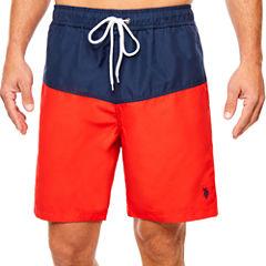 USPA Color Blocked Contrast Swim Short